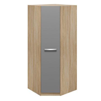 An Image of Genoa Corner Wardrobe Grey