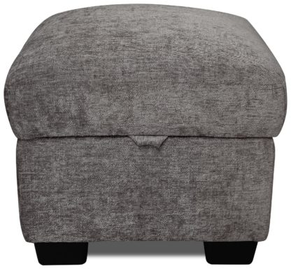 An Image of Argos Home Tammy Fabric Storage Footstool - Charcoal