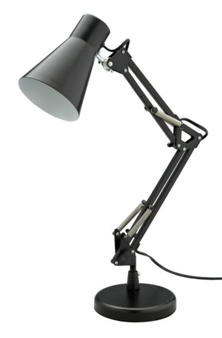 An Image of Argos Home Swing Arm Desk Lamp - Matt Black