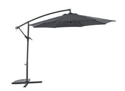 An Image of Argos Home 2.5m Overhanging Garden Parasol - Black
