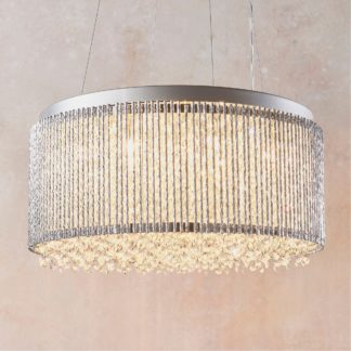 An Image of Endon Galina 12 Light Crystal Ceiling Fitting Chrome Chrome