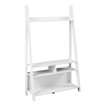 An Image of Tiva White Ladder TV Stand White