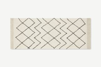 An Image of Masali Berber-Style Wool Runner, 80 x 200cm, Off White