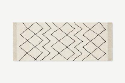 An Image of Masali Berber-Style Wool Runner, 80 x 200cm, Off White