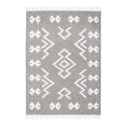 An Image of Homestead Navajo Grey Rug Grey