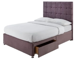 An Image of Forty Winks 1500 Pocket Gel 2 Drawer Double Divan - Mauve