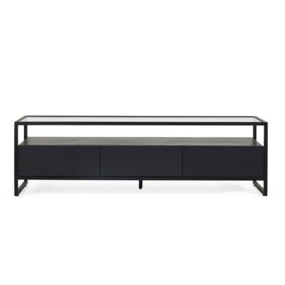 An Image of Dillon Black Extra Wide TV Stand Black