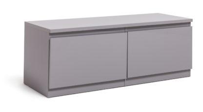 An Image of Habitat Jenson 2 Door TV Unit - Grey
