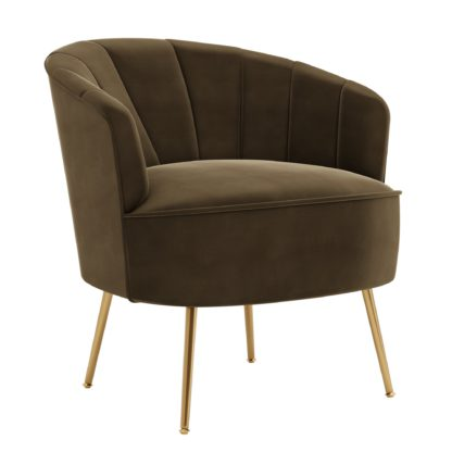 An Image of Matilda Eco Velvet Shell Chair Taupe