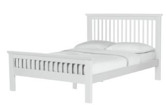 An Image of Argos Home Aubrey Small Double Bed Frame - White