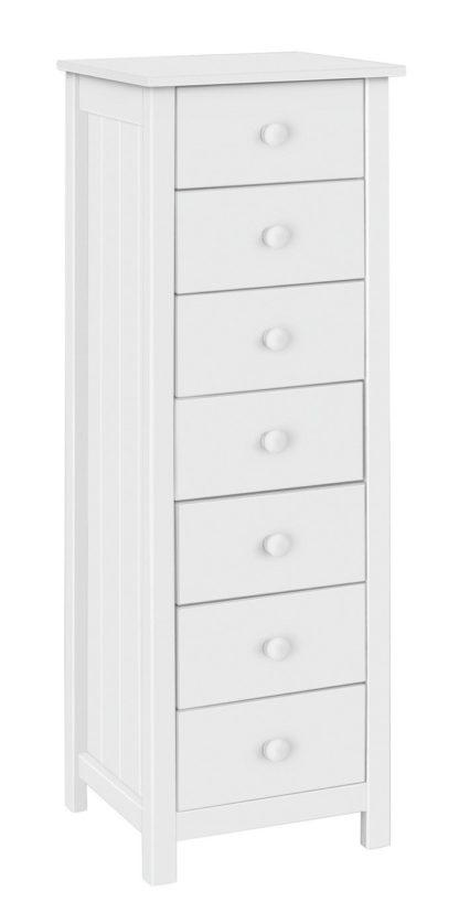 An Image of Habitat Scandinavia 7 Drawer Tallboy - White