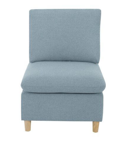 An Image of Habitat Mod Fabric Armchair without Arms - Blue