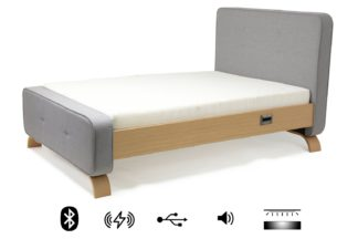 An Image of Koble Sove wireless charging Bluetooth Double Bed Frame-Grey