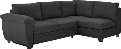 An Image of Argos Home Fernando Right Corner Fabric Sofa Bed - Charcoal