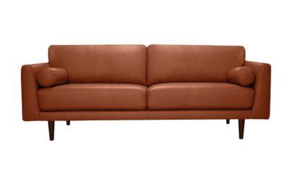 An Image of Habitat Jackson 4 Seater Leather Sofa - Grey