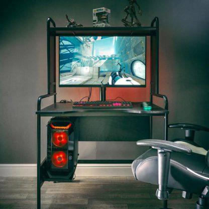 An Image of X Rocker Icarus Ergonomic Gaming Desk - Black