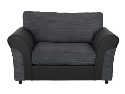 An Image of Argos Home Harry Fabric Cuddle Chair - Charcoal