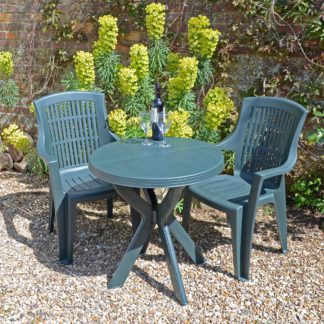 An Image of Tivoli 2 Seater Green Bistro Set with Parma Chairs Green