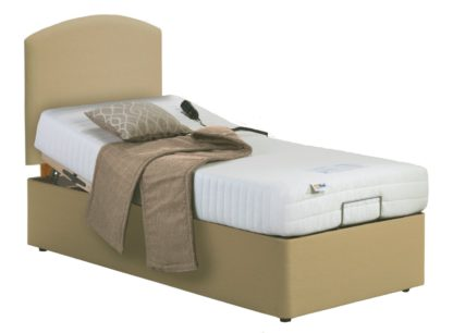 An Image of MiBed Lerwick Adjustable Single Bed and Memory Foam Mattress