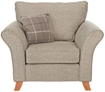 An Image of Argos Home Kayla Fabric Armchair - Beige