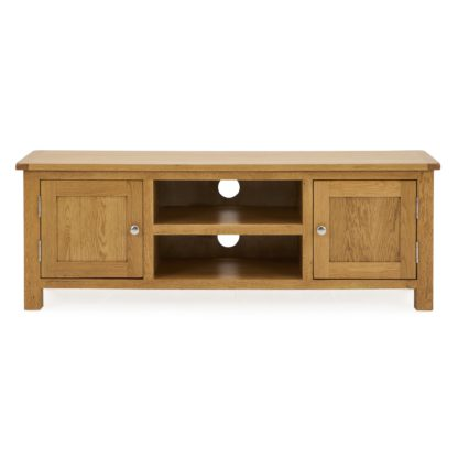 An Image of Bromley Wide TV Unit Oak Brown