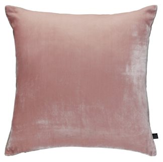 An Image of Habitat Regency Velvet Cushion - Dusty Pink
