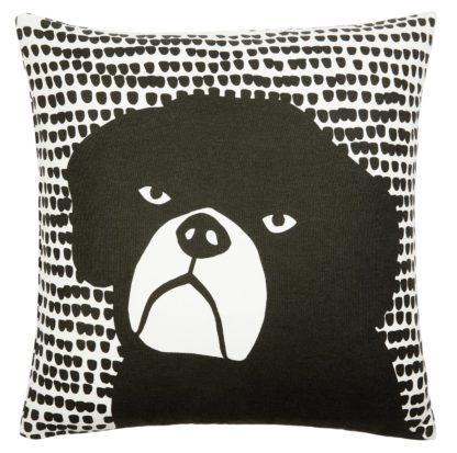 An Image of Habitat Willis 45 x 45cm Graphic Dog Print - Black and White