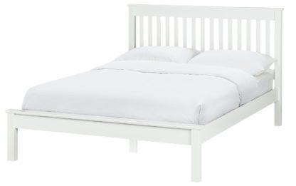 An Image of Habitat Aspley Double Bed Frame - White