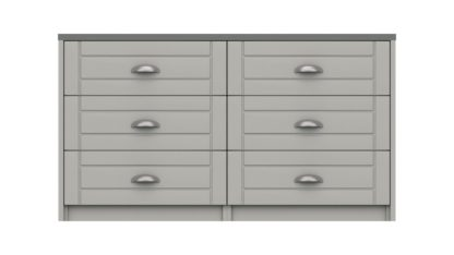 An Image of Kielder 3 + 3 Drawer Chest - Grey