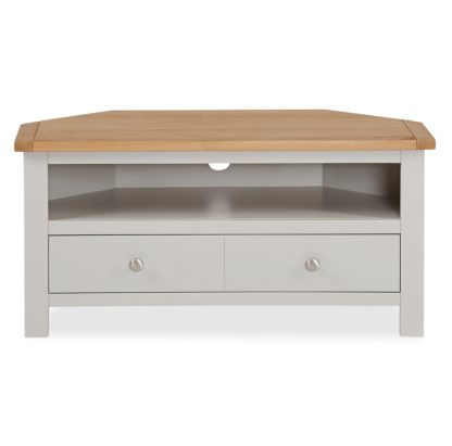 An Image of Bromley Grey Corner TV Stand Grey