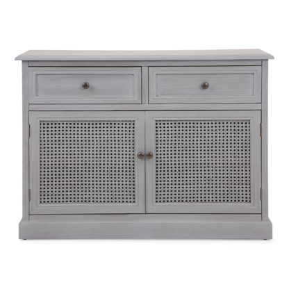 An Image of Lucy Cane Grey Small Sideboard Grey