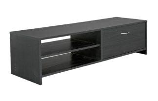 An Image of Habitat 1 Drawer TV Unit - Black