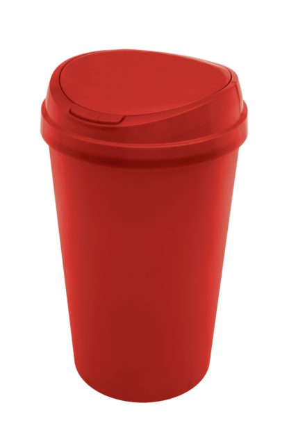 An Image of Argos Home 45 Litre Touch Top Kitchen Bin - Red