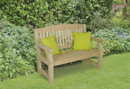 An Image of Forest Harvington Wooden 2 Seater Garden Bench
