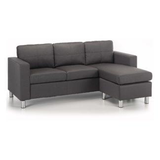 An Image of Zara Reversible Fabric Corner Chaise Sofa Grey