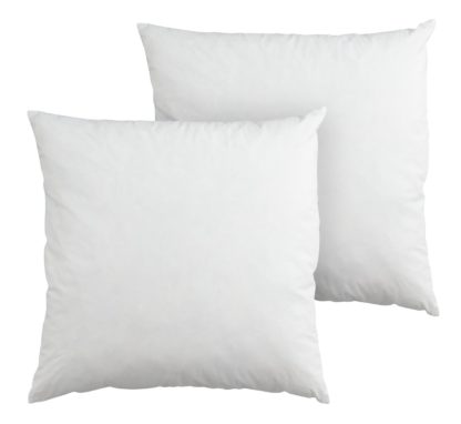 An Image of Argos Home Feather 50x50cm Cushion Pads - 2 Pack