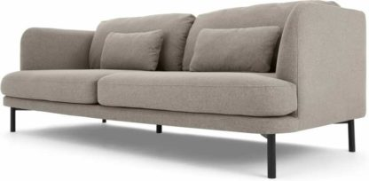 An Image of Herman 3 Seater Sofa, Manhattan Grey