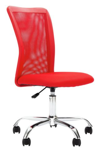An Image of Habitat Reade Mesh Office Chair - Red