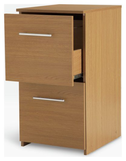 An Image of Argos Home 2 Drawer Filing Cabinet - Oak Effect