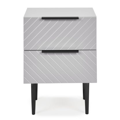 An Image of Maurice Grey Bedside Table Grey
