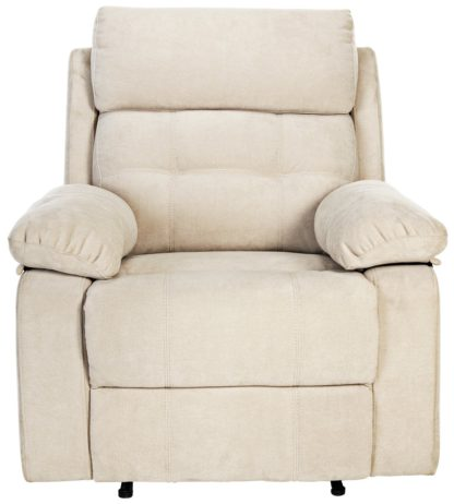 An Image of Argos Home June Fabric Manual Recliner Chair - Natural
