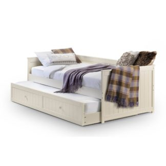 An Image of Jessica White Daybed and Underbed White