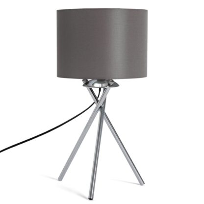 An Image of Habitat Tripod Table Lamp - Grey and Chrome