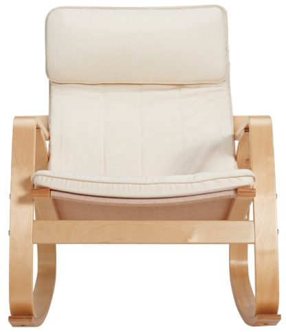 An Image of Argos Home Fabric Rocking Chair - Natural