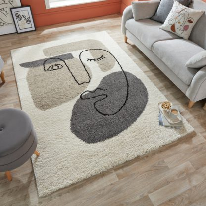 An Image of Beauty Rug Off-White