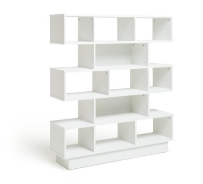 An Image of Habitat Cubes 5 Tier Wide Bookcase - White