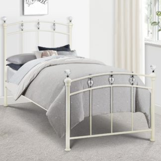 An Image of Sophie Crystal Bedstead White