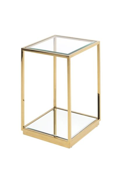 An Image of Rippon Brass Square Side Table