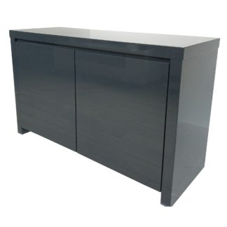 An Image of Puro Charcoal Sideboard Dark Grey