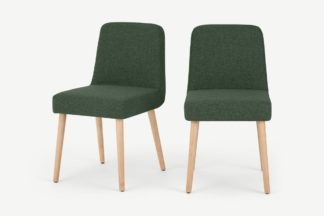 An Image of Adams Set of 2 Dining Chairs, Darby Green